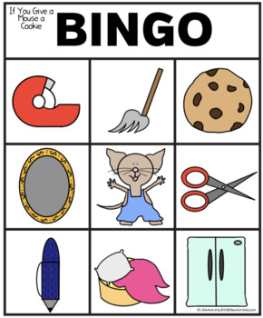 IF YOU GIVE A MOUSE A COOKIE BINGO