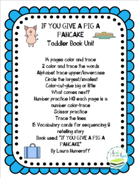 IF YOU GIVE A PIG A PANCAKE. TODDLER BOOK UNIT