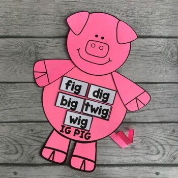 IG PIG (Display for the Word Family IG)