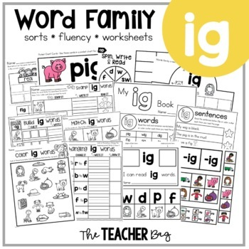 IG Word Family Activities
