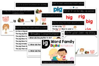 IG Word Family Digital Notebook