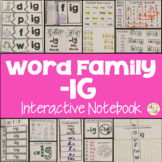 IG Word Family Interactive Notebook