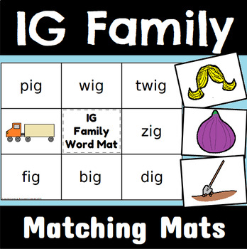IG Word Family Word and Sentence Matching Mats