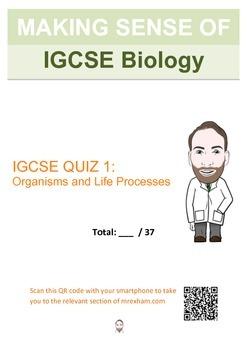 IGCSE Biology - Organisms and Life Processes Revision Quiz