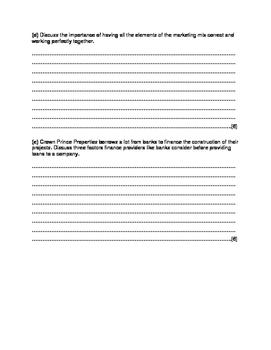 IGCSE Business Studies Paper 1 Practice Question- Crown Prince Properties