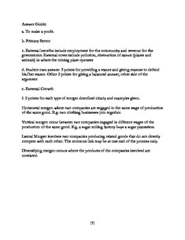(IGCSE Business Studies Paper 1) Practice with Answer Guide