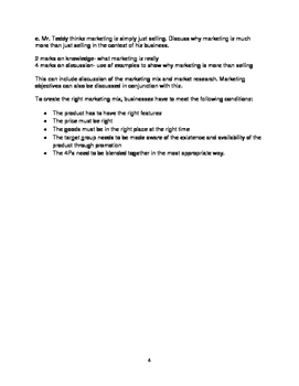 IGCSE Business Studies Practice Question- Teddy Dairy Farm with Answer Guide