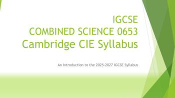IGCSE COMBINED SCIENCE 0653Cambridge CIE Syllabus