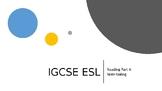 IGCSE ESL Note taking