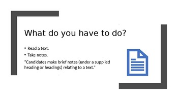 IGCSE ESL Note taking