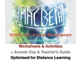 IGCSE / IB Shakespeare: Macbeth Complete Teaching + Drama