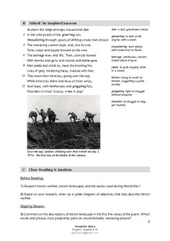 IGCSE Poetry: 'Attack' by Siegfried Sassoon