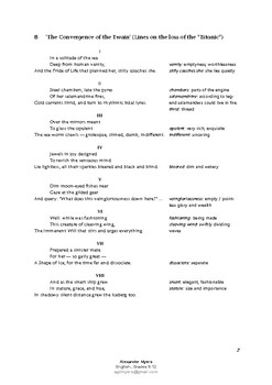 """IGCSE Poetry: """"Convergence of the Twain"""" by Thomas Hardy"""
