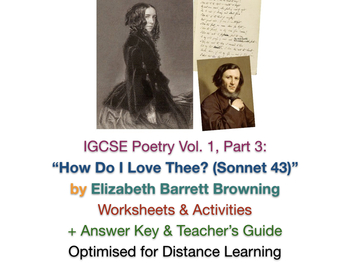 """IGCSE Poetry: 'How Do I Love Thee?' (""""Sonnet 43"""") by Elizabeth Barrett Browning"""