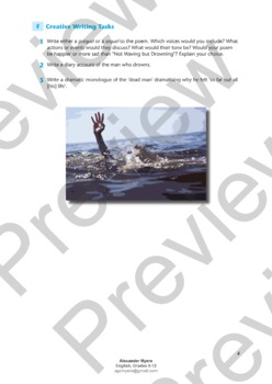 """IGCSE Poetry: """"Not Waving but Drowning"""" by Stevie Smith"""