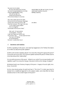 IGCSE Poetry: 'The Going' by Thomas Hardy