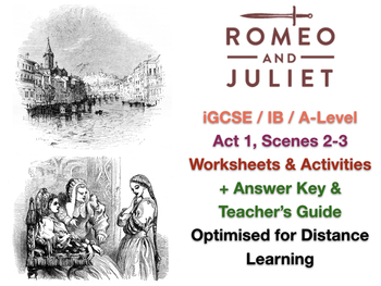 Igcse Shakespeare Romeo And Juliet  Act  Scenes  Worksheet   Igcse Shakespeare Romeo And Juliet  Act  Scenes  Worksheet  Answers