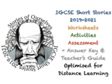 IGCSE Short Stories - for English Literature in 2019 - 2021 + ANSWERS Bundle