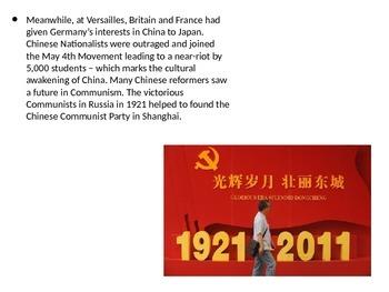 IGCSE and IB History Overview Mao Zedong