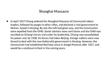 IGCSE and IB History Overview Mao Zedong