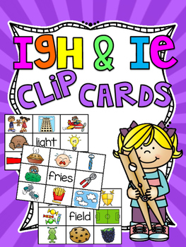 IGH IE Clip Cards Center Activities