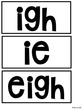 IGH IE Pocket Chart Centers and Materials