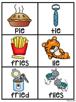 IGH IE Long I and E Pocket Chart Centers and Materials