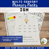 IGH Word Work Printables Multisensory Phonics Orton-Gillingham