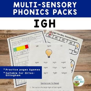 IGH Word Work Printables Multisensory Phonics Orton-Gillingham