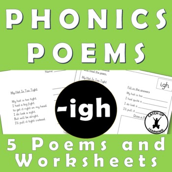 {IGH sound activities} {Trigraph intervention} {phonics poems}