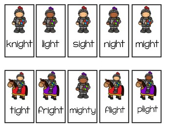 IGH and EIGH Word Game: Help the Knight Catch His Flight! (FREE!)