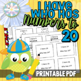 I Have, Who Has - Kindergarten Numbers 1-25