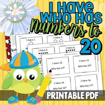 I Have, Who Has - Kindergarten Numbers 1-25