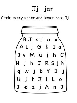 I,J,K,L Upper and Lower Case Letter Search