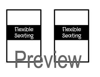 IKEA Frame EDITABLE Flexible Seating Charts (Color and Black & White)
