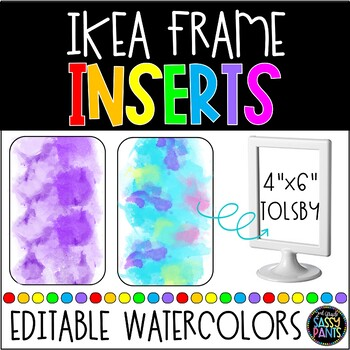 IKEA Frames Inserts | IKEA TOLSBY Frames | EDITABLE Inserts | Watercolor