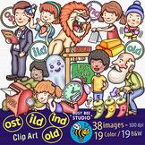 ILD, IND, OLD, OST Clip Art Set