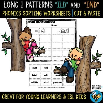 ILD and IND Sorts | Cut and Paste Worksheet
