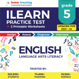 Online ILEARN Practice test, Printable Worksheets, Grade 5 ELA-ILEARN Test Prep