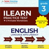 Online ILEARN Practice test, Printable Worksheets, Grade 3