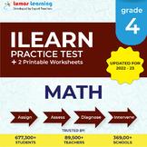 Online ILEARN Practice test, Printable Worksheets, Grade 4