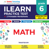 ILEARN Practice Test, Worksheets and Remedial Resources - Grade 6 Math Test Prep