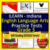ILEARN Test Prep Practice Tests for 3rd Grade ELA Indiana Computer Adaptive