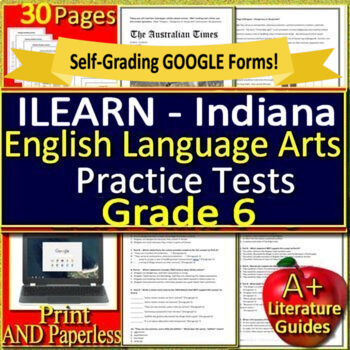 ILEARN Test Prep Practice Tests for 6th Grade ELA Indiana Computer Adaptive