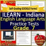 7th Grade ILEARN Test Prep Practice ELA Indiana Computer Adaptive