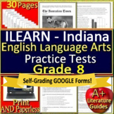 ILEARN Test Prep Practice Tests for 8th Grade ELA Indiana Computer Adaptive