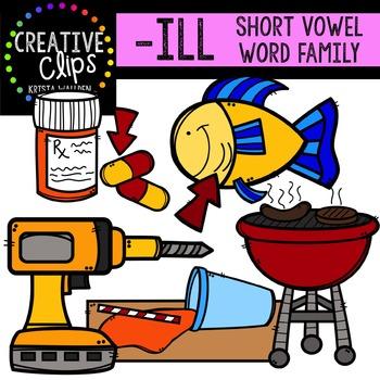 ILL Short I Word Family {Creative Clips Digital Clipart}