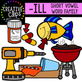 ILL Short I Word Family {Creative Clips Digital Clipart}