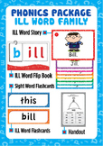 'ILL WORD FAMILY' Phonics Lesson Package