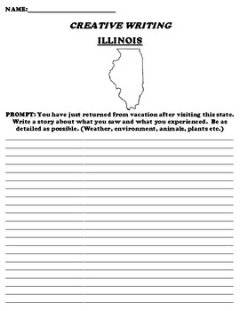 ILLINOIS CREATIVE WRITING  DIFFERENTIATED WORKSHEET